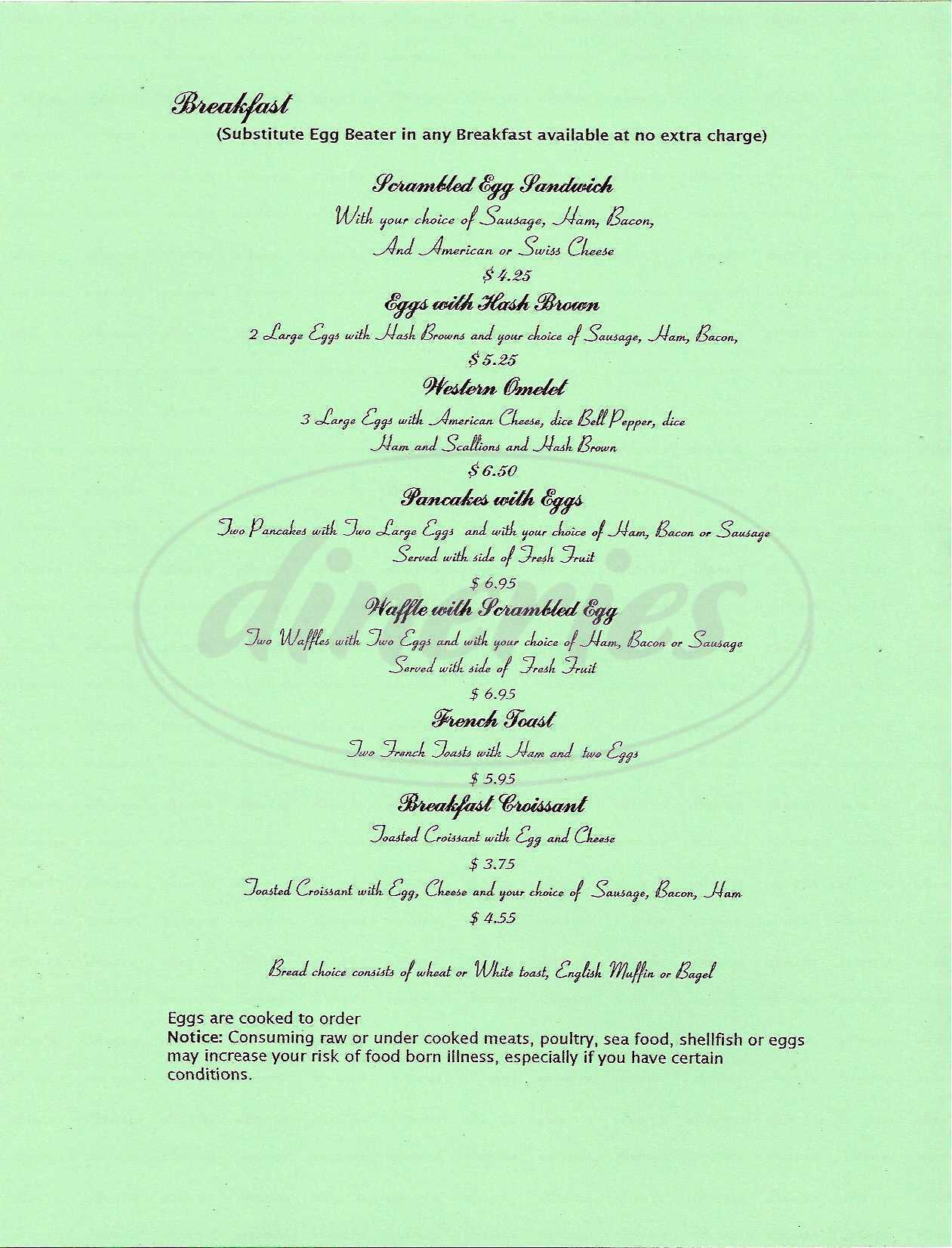 menu for La Cucina Italiana