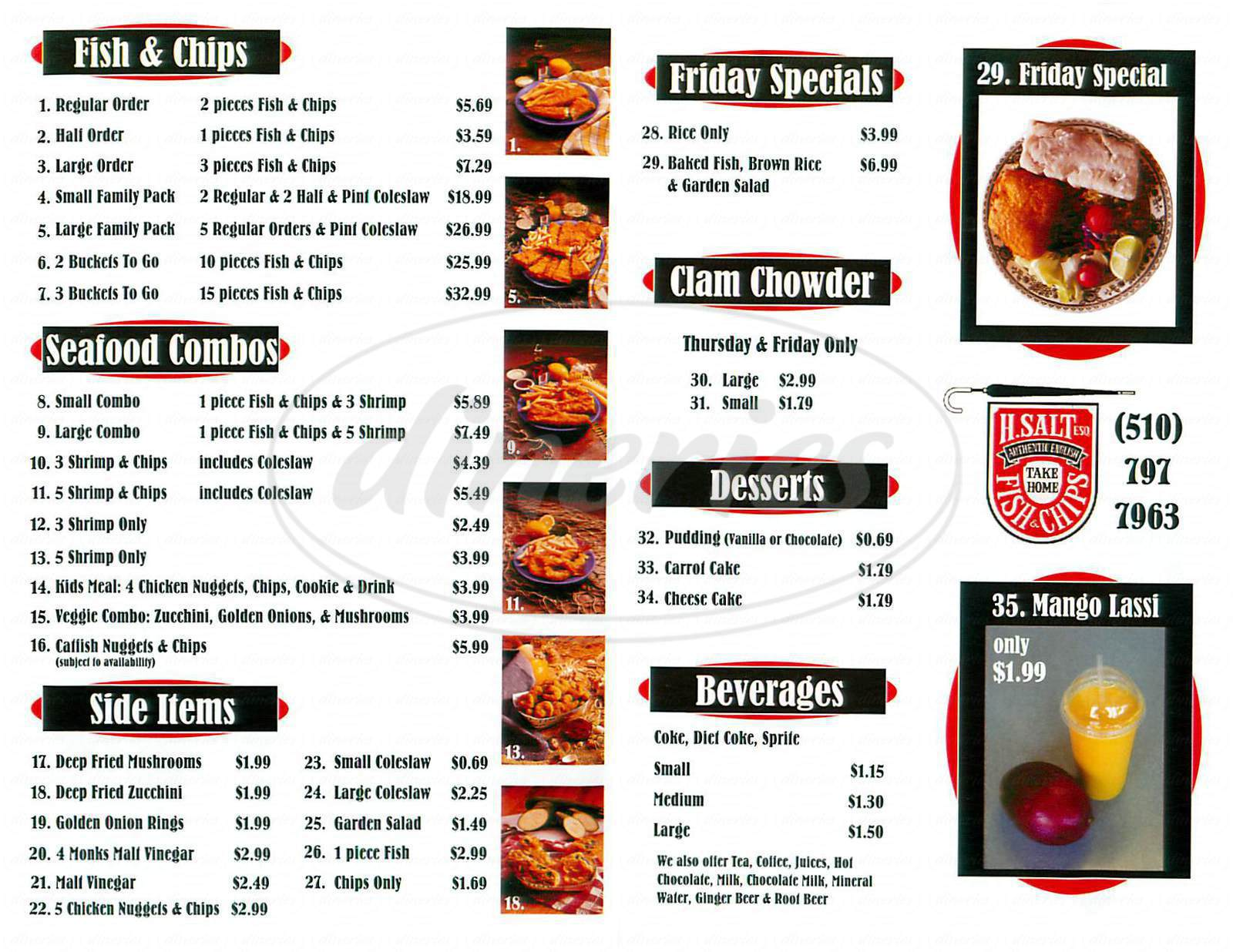h salt esquire fish and chips menu fremont dineries
