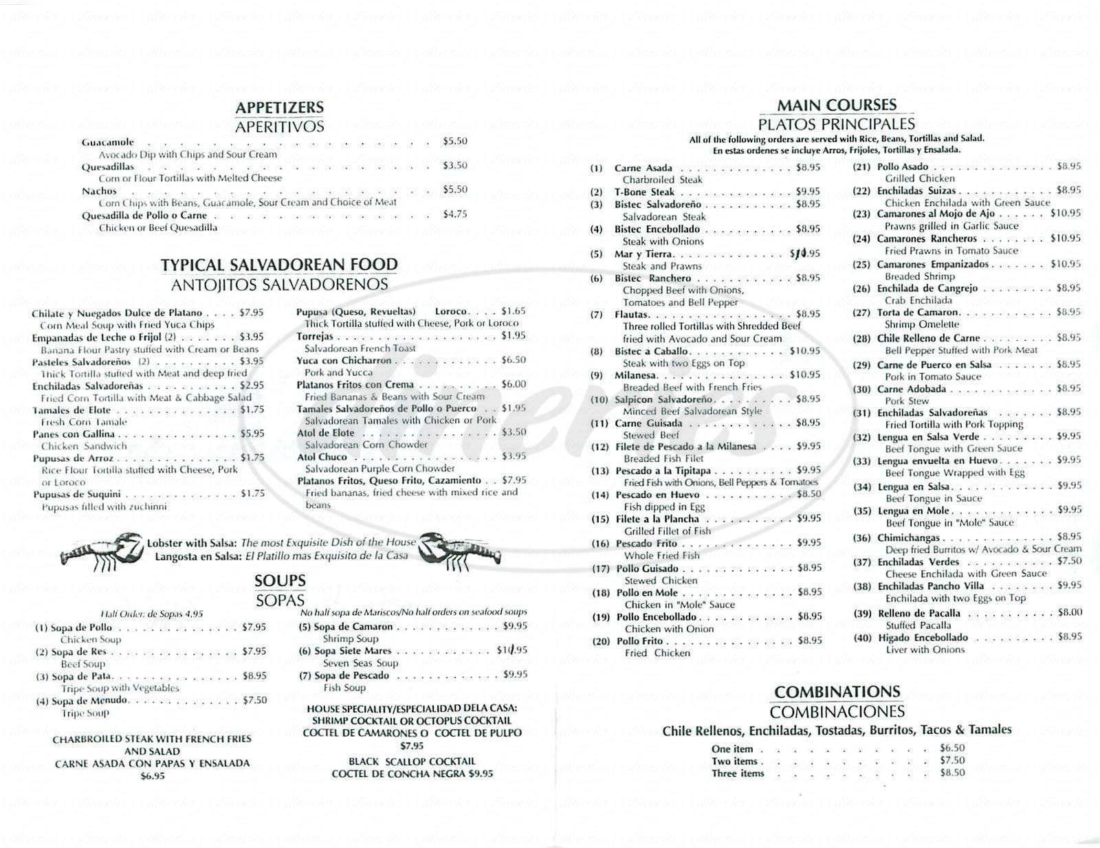 El Patio Menu San Francisco Dineries