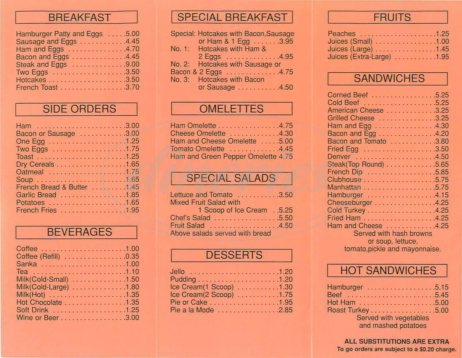 lafayette coffee shop menu - san francisco - dineries