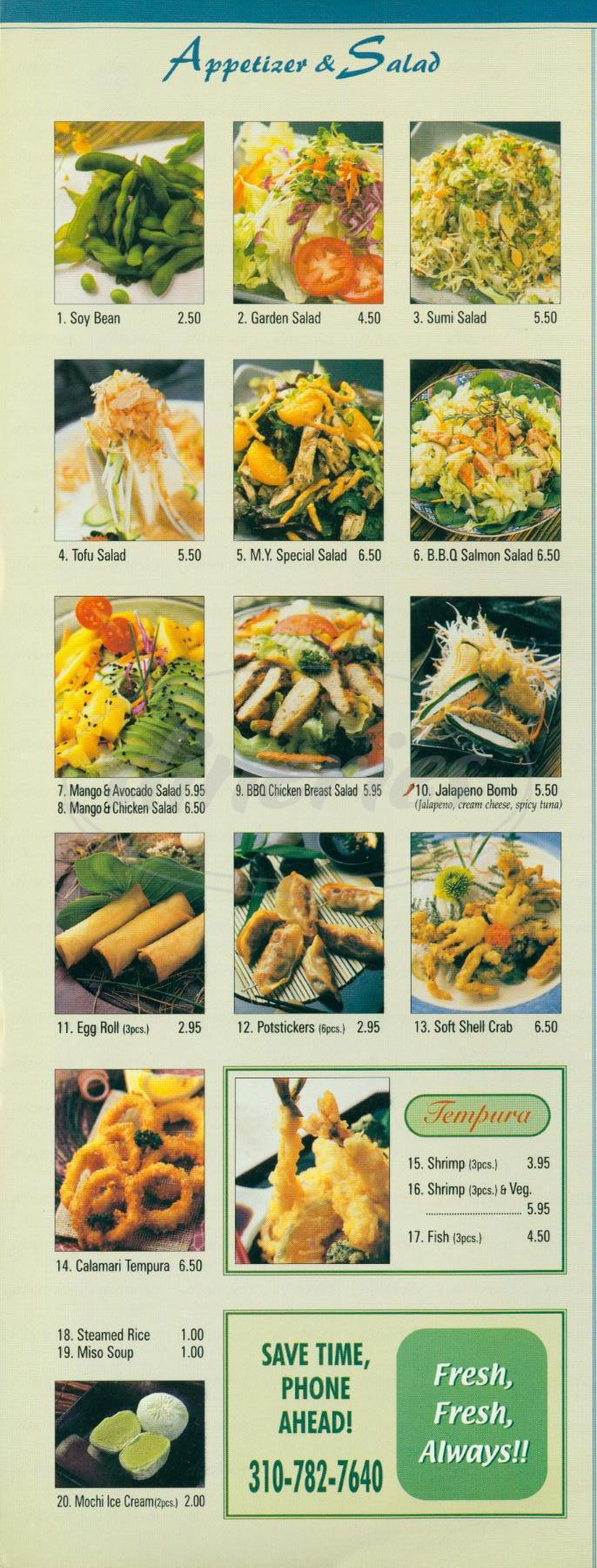 menu for Maki Yaki 10