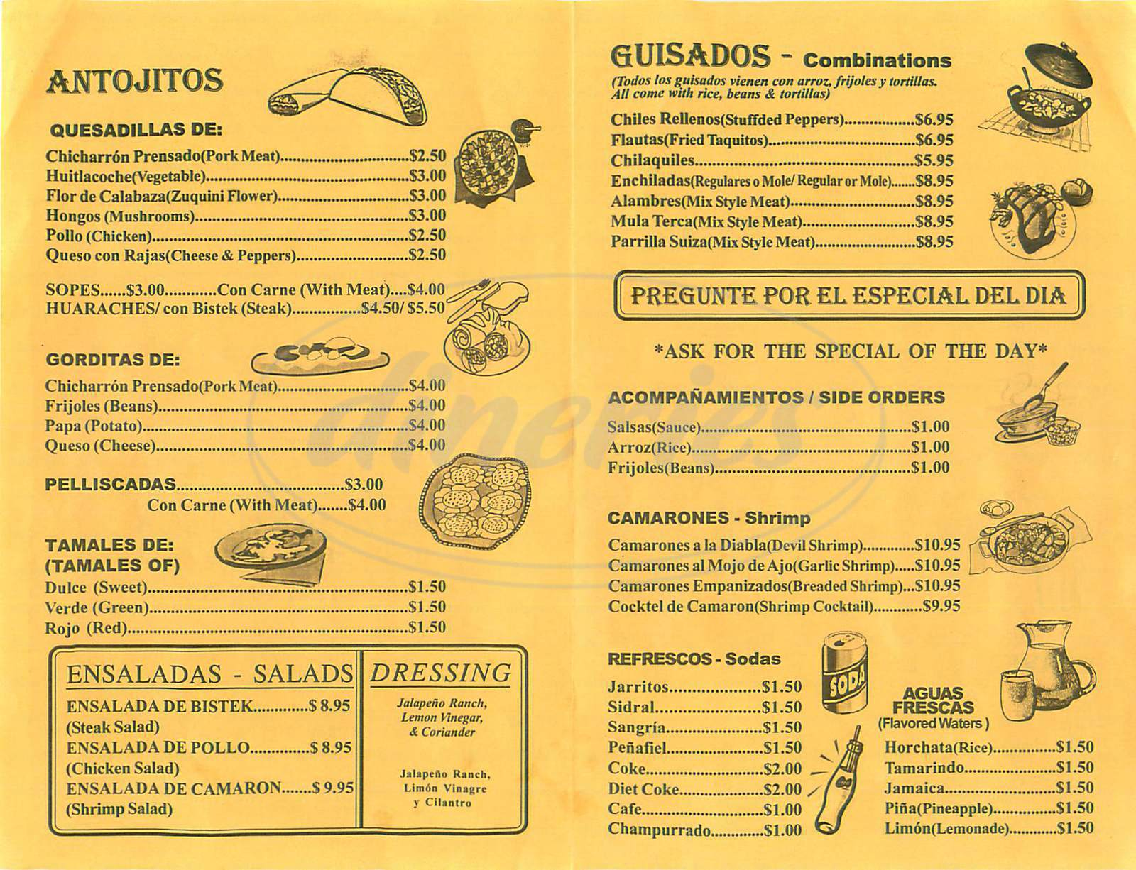 menu for La Cocina de Isabel