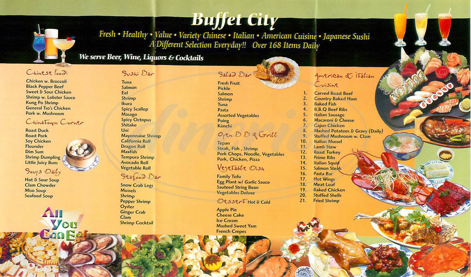 menu for Buffet City