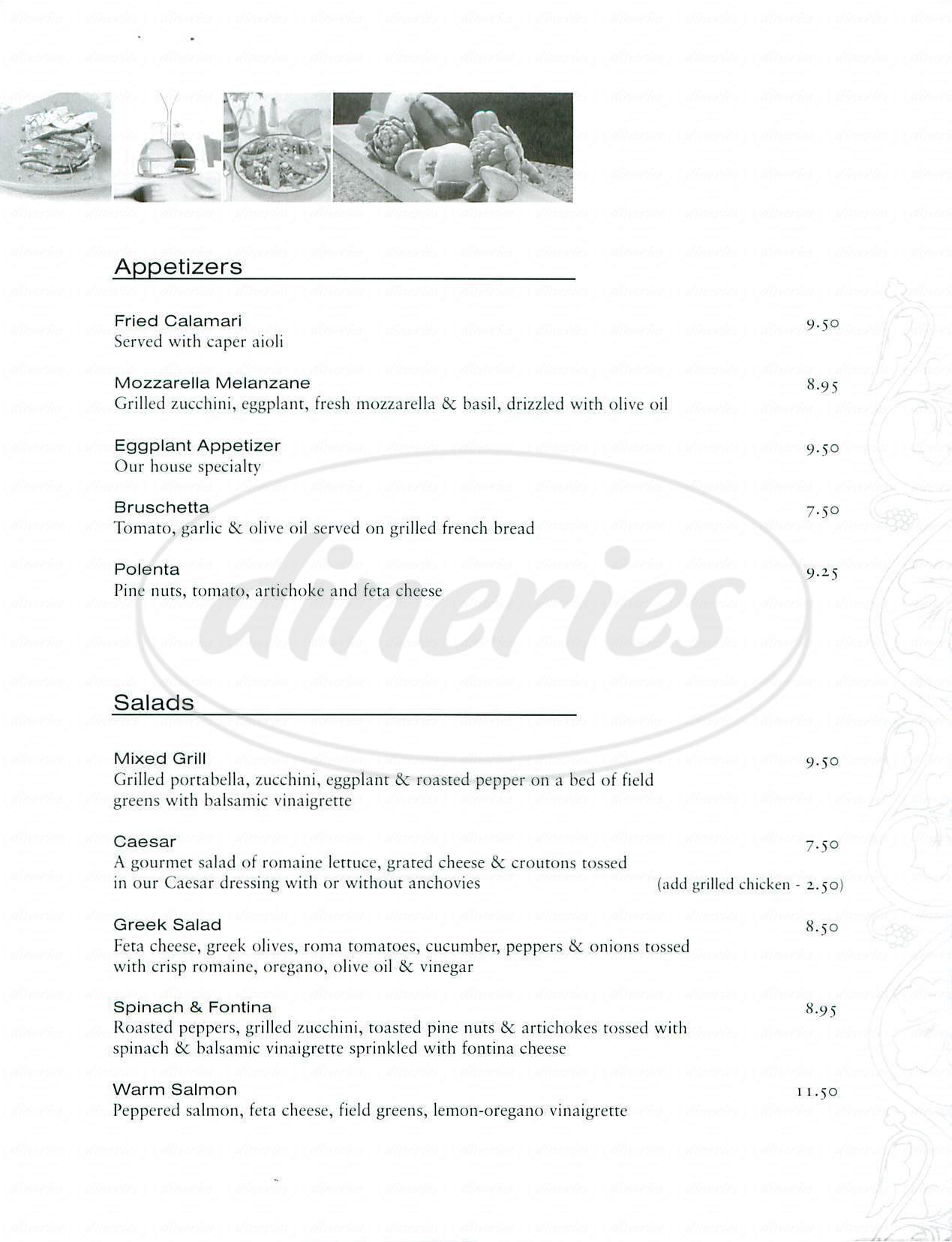 menu for Jacks Restaurant & Bar