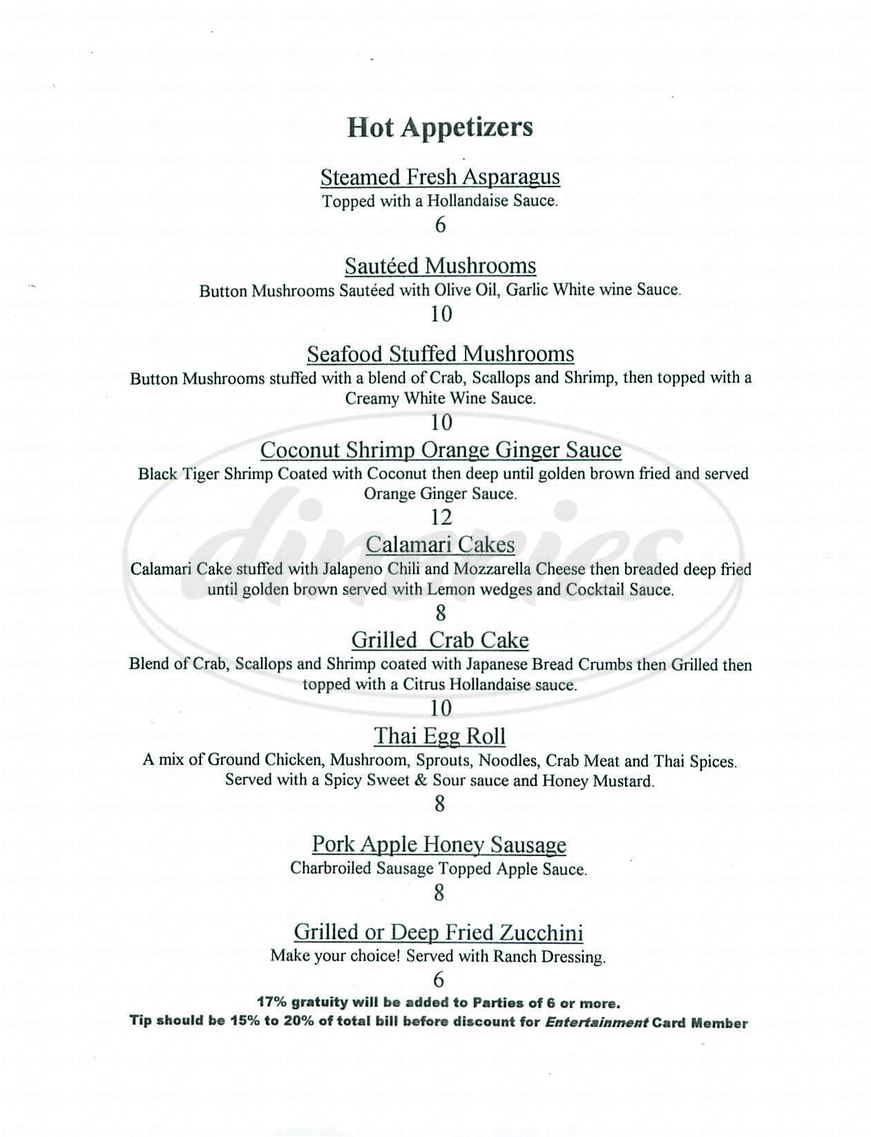 menu for The Wild Rabbit Restaurant