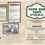 menu for Cape Cod Cafe