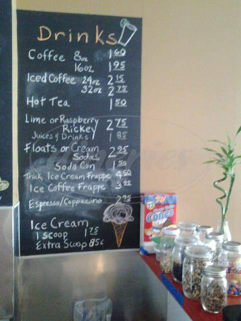 menu for Center Cafe