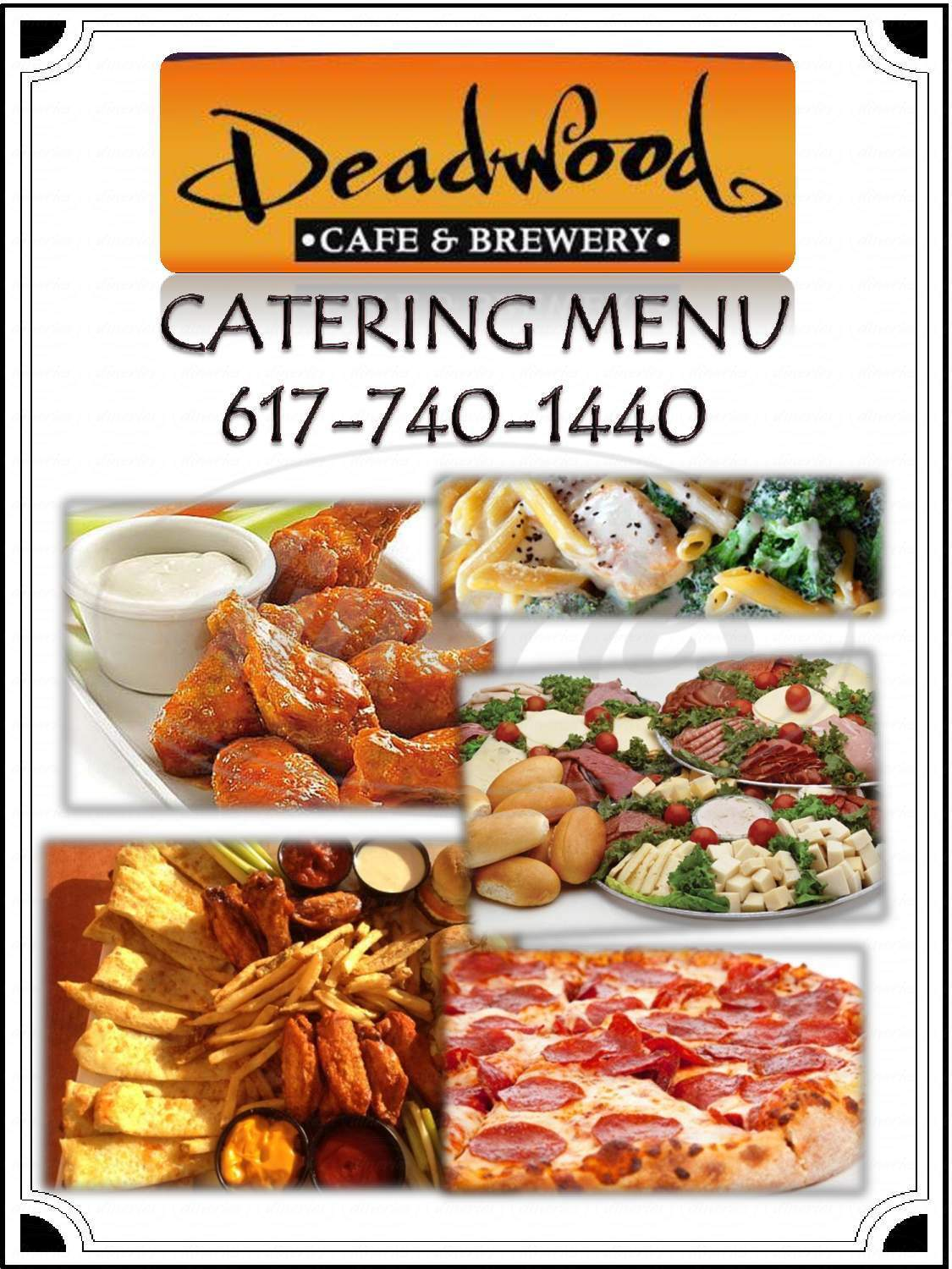 menu for Deadwood Brewery