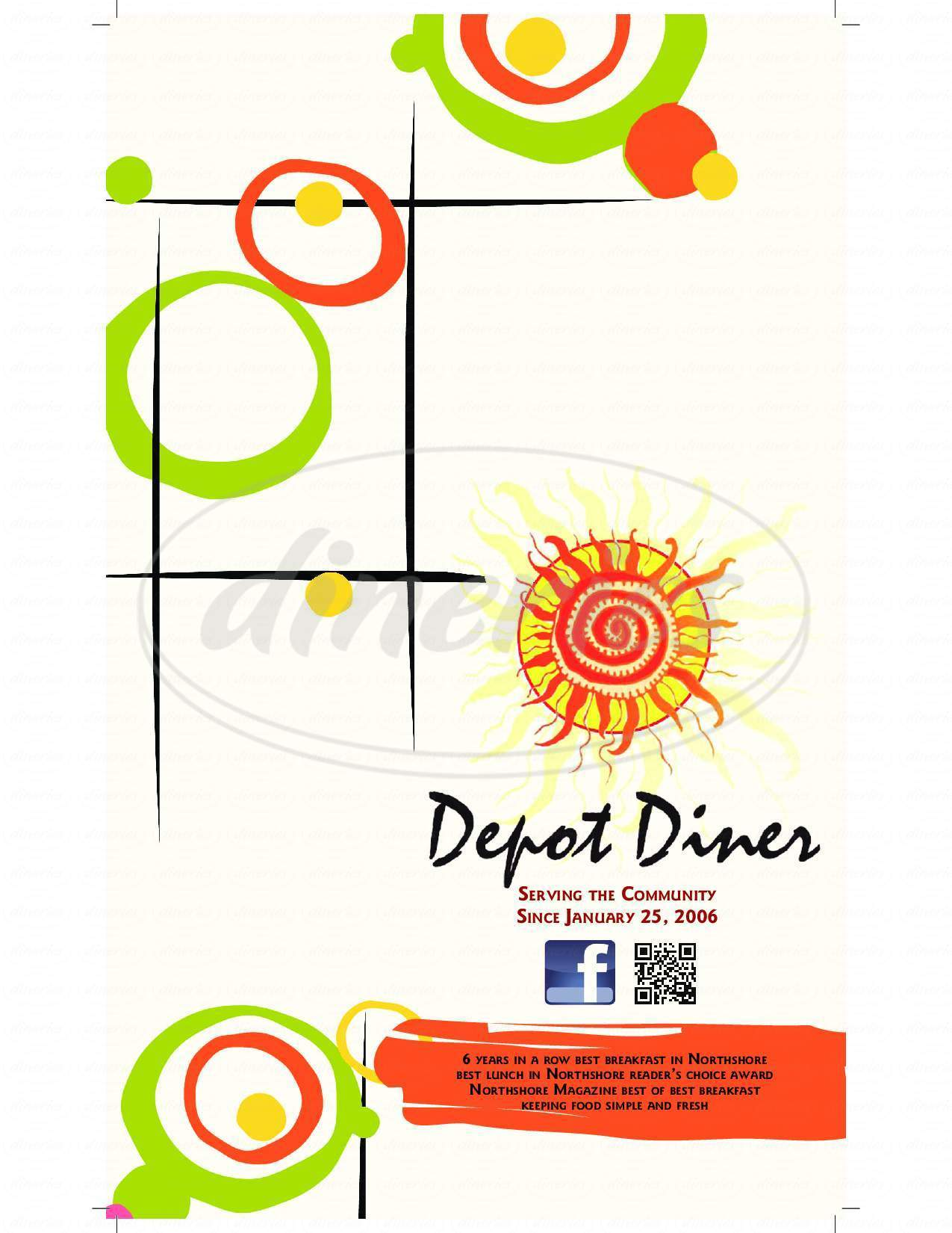 menu for Depot Diner