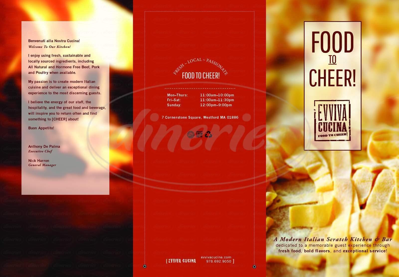 menu for Evviva Cucina