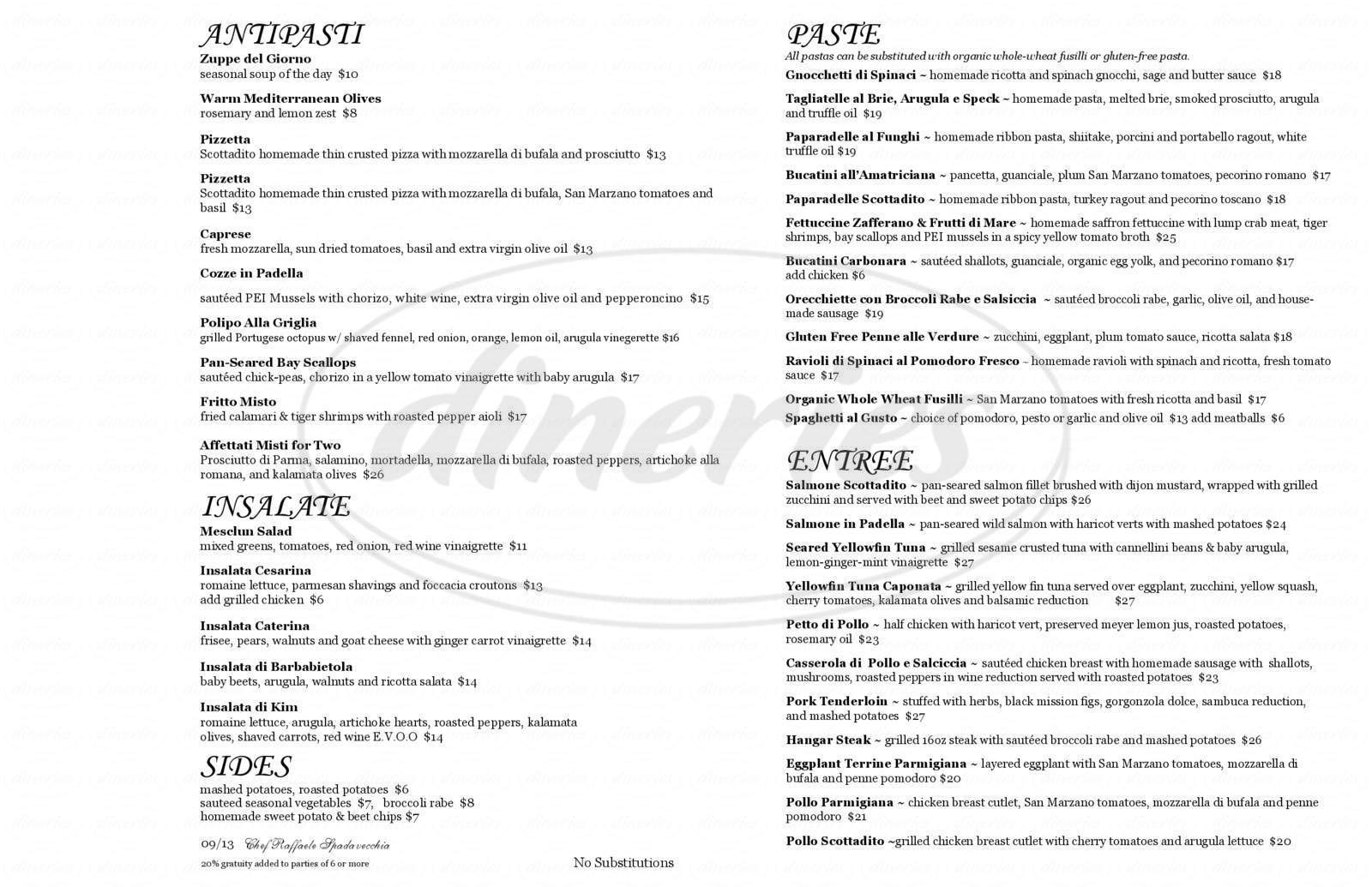 menu for Scottadito Osteria Toscana