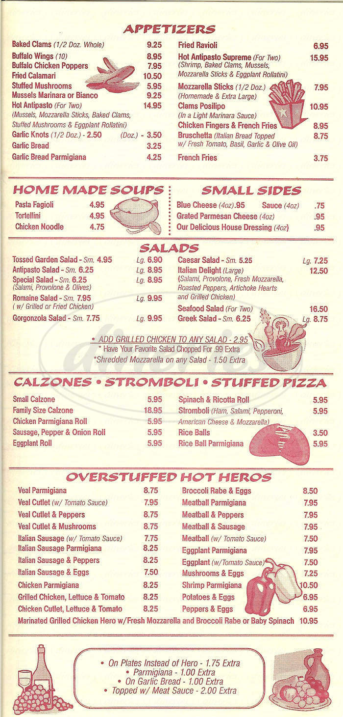 menu for Spasso's of Wantagh