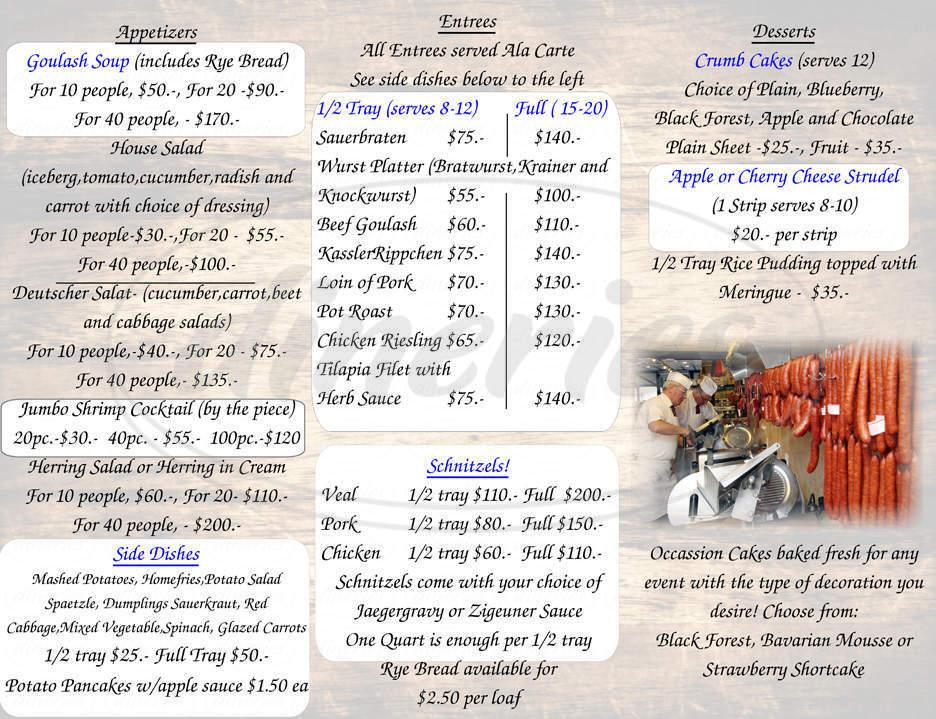 menu for Stammtisch Pork Store