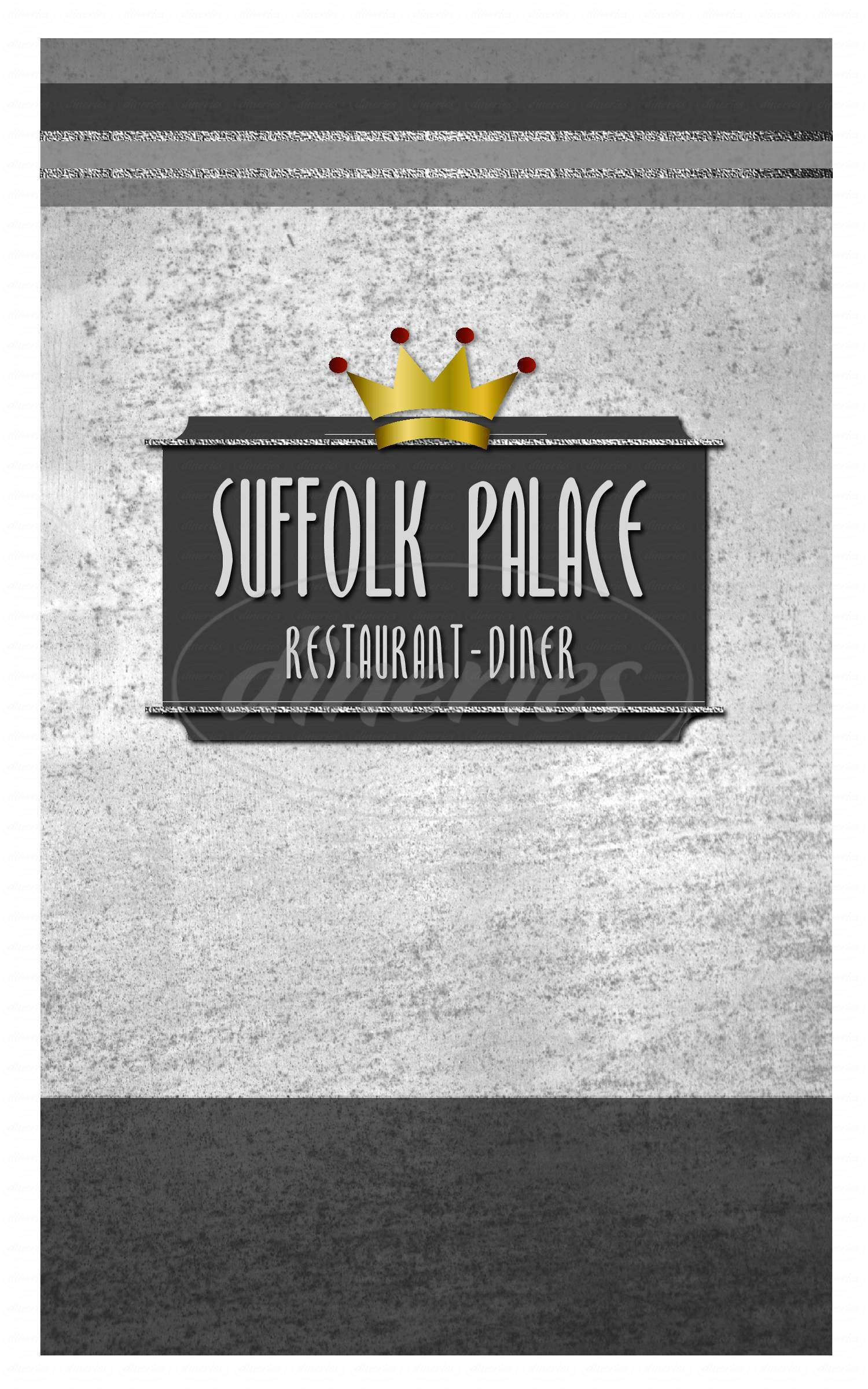 menu for Suffolk Diner