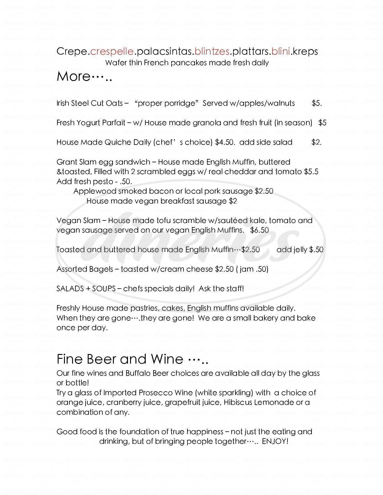 menu for Sweetness 7 Café