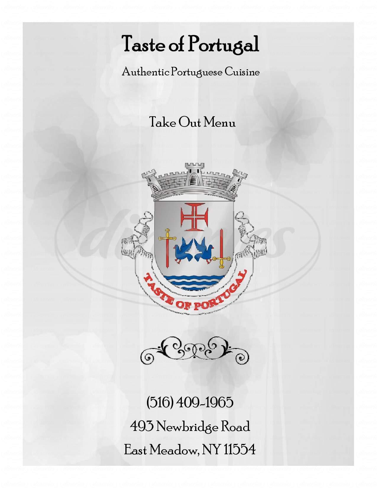 menu for Taste Of Portugal Restaurante