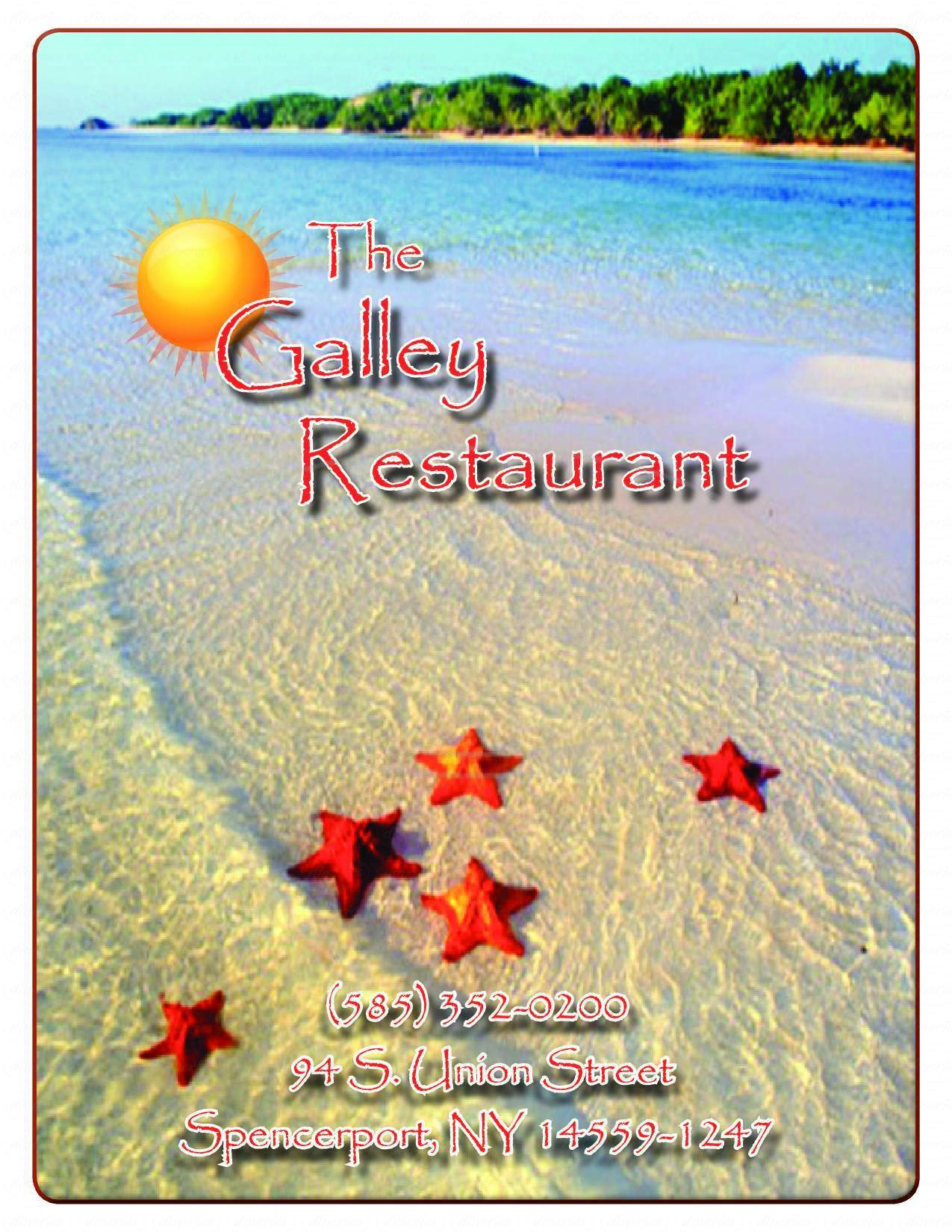 menu for The Galley