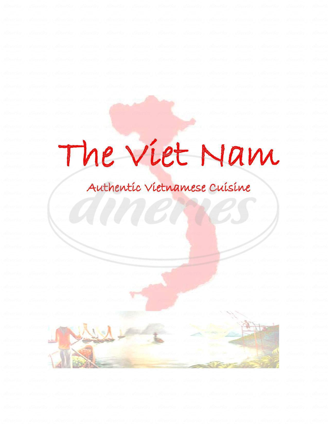 menu for Vietnam Restaurant