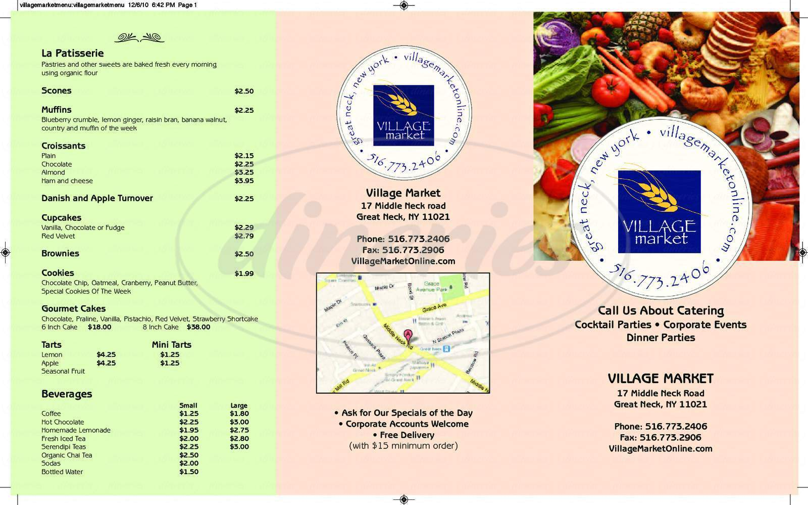 menu for Village Market