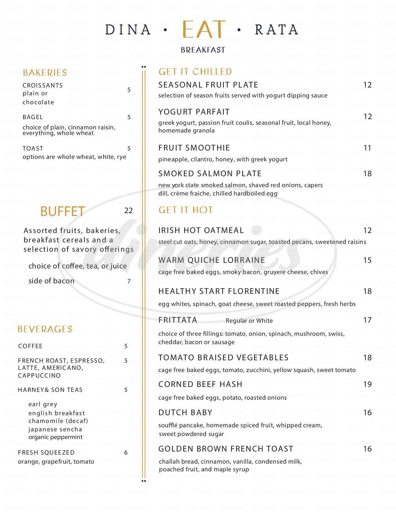 menu for Wall & Water