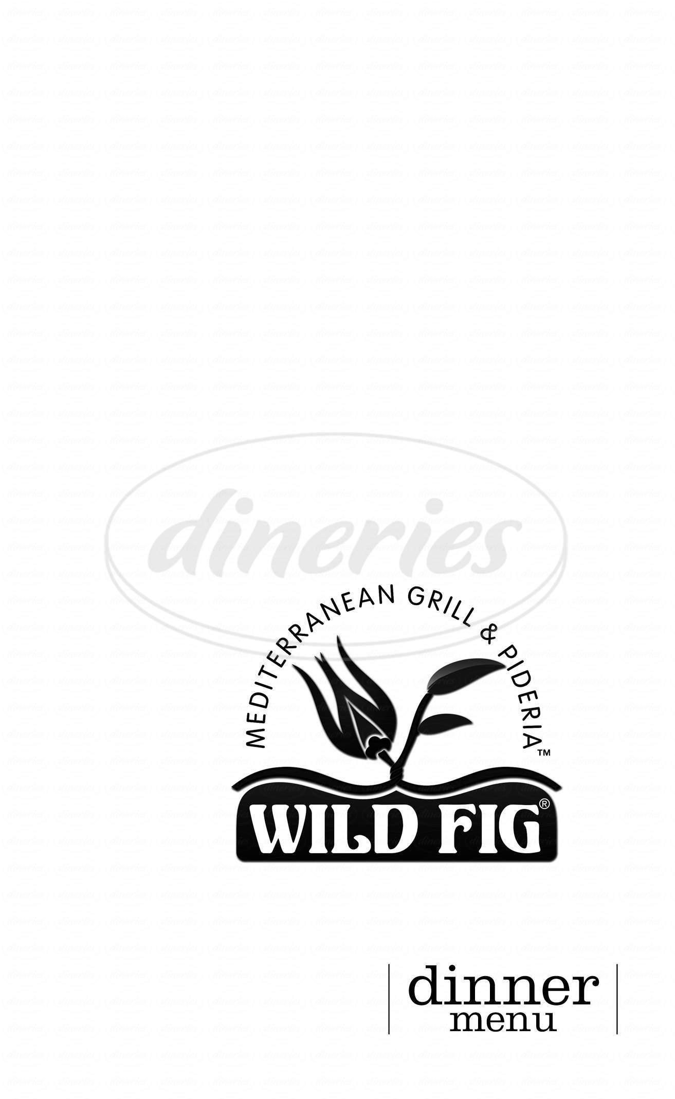 menu for Wild Fig Mediterranean Grill