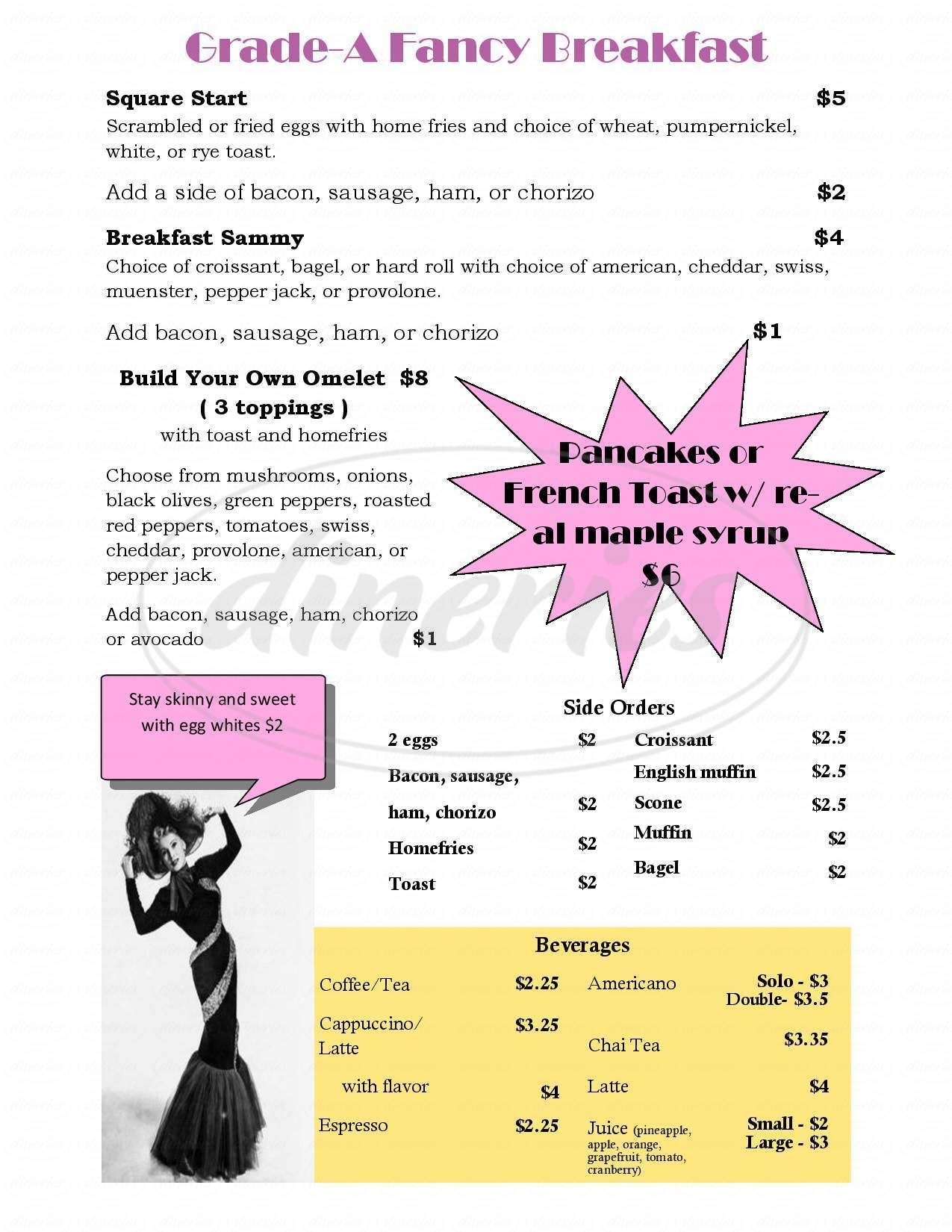 menu for Ambition Coffee House & Eatery