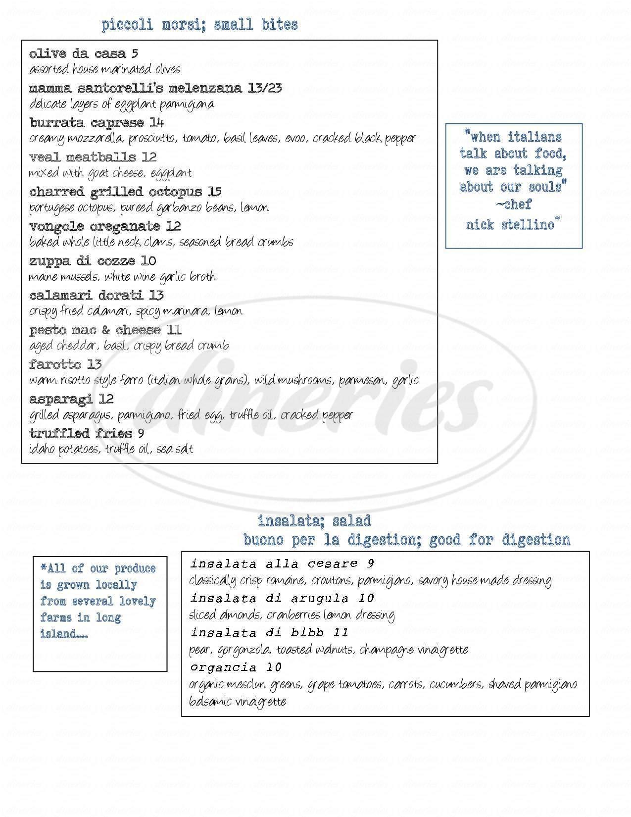 menu for Anna Maria's Restaurant
