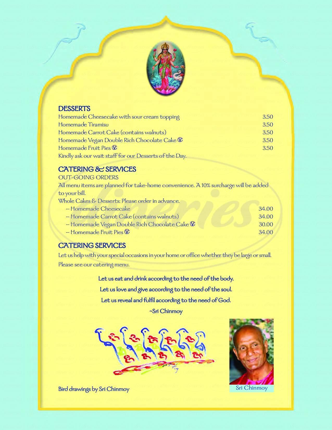 menu for Annam Brahma