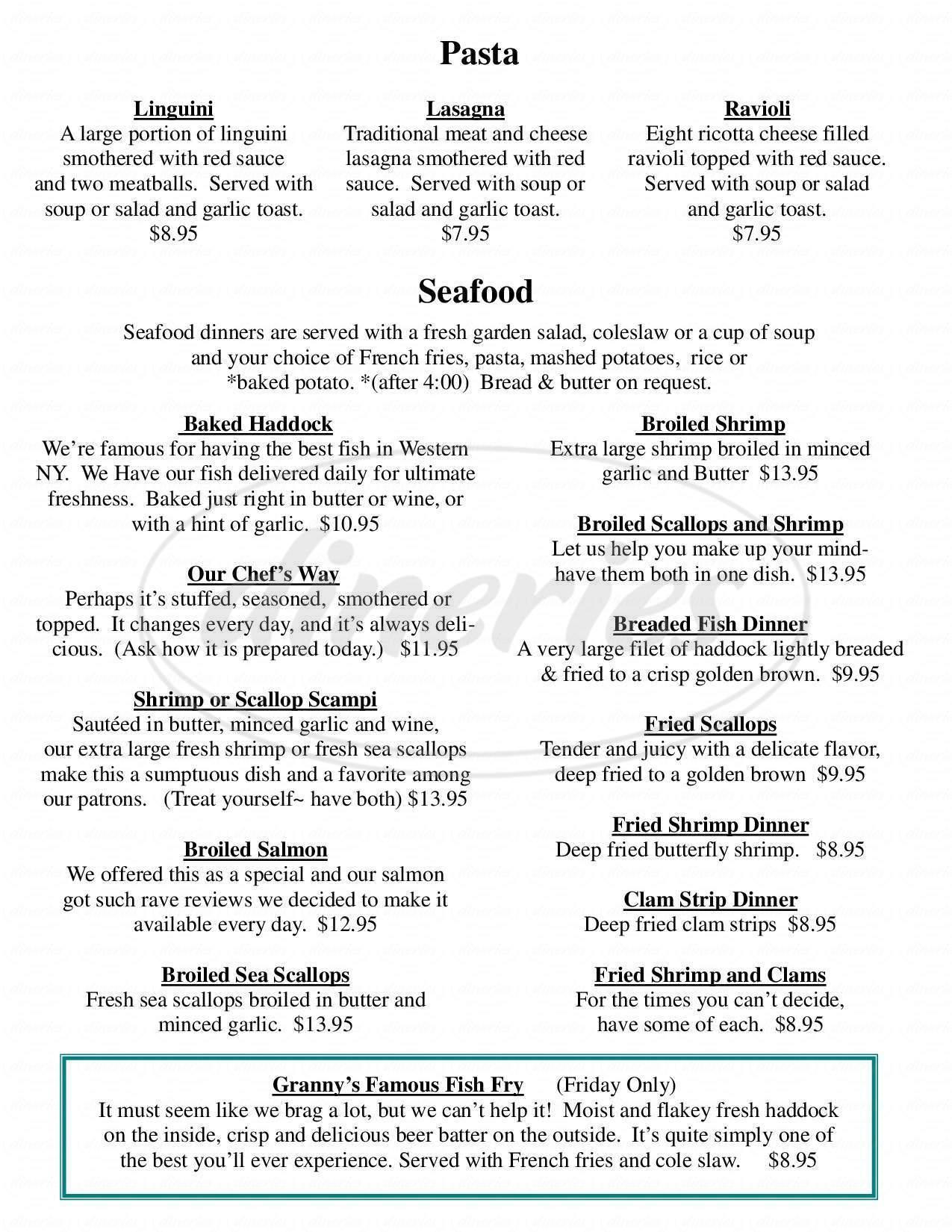 menu for Apple Granny