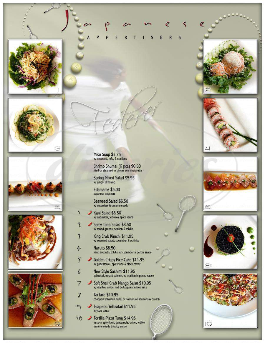 menu for Asian Gourmet