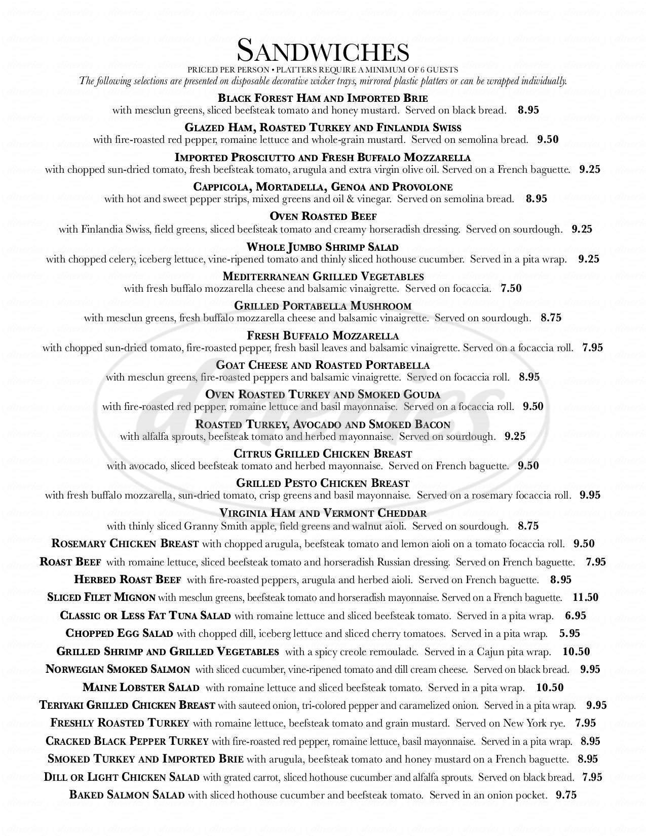 menu for Baguettes & Co.