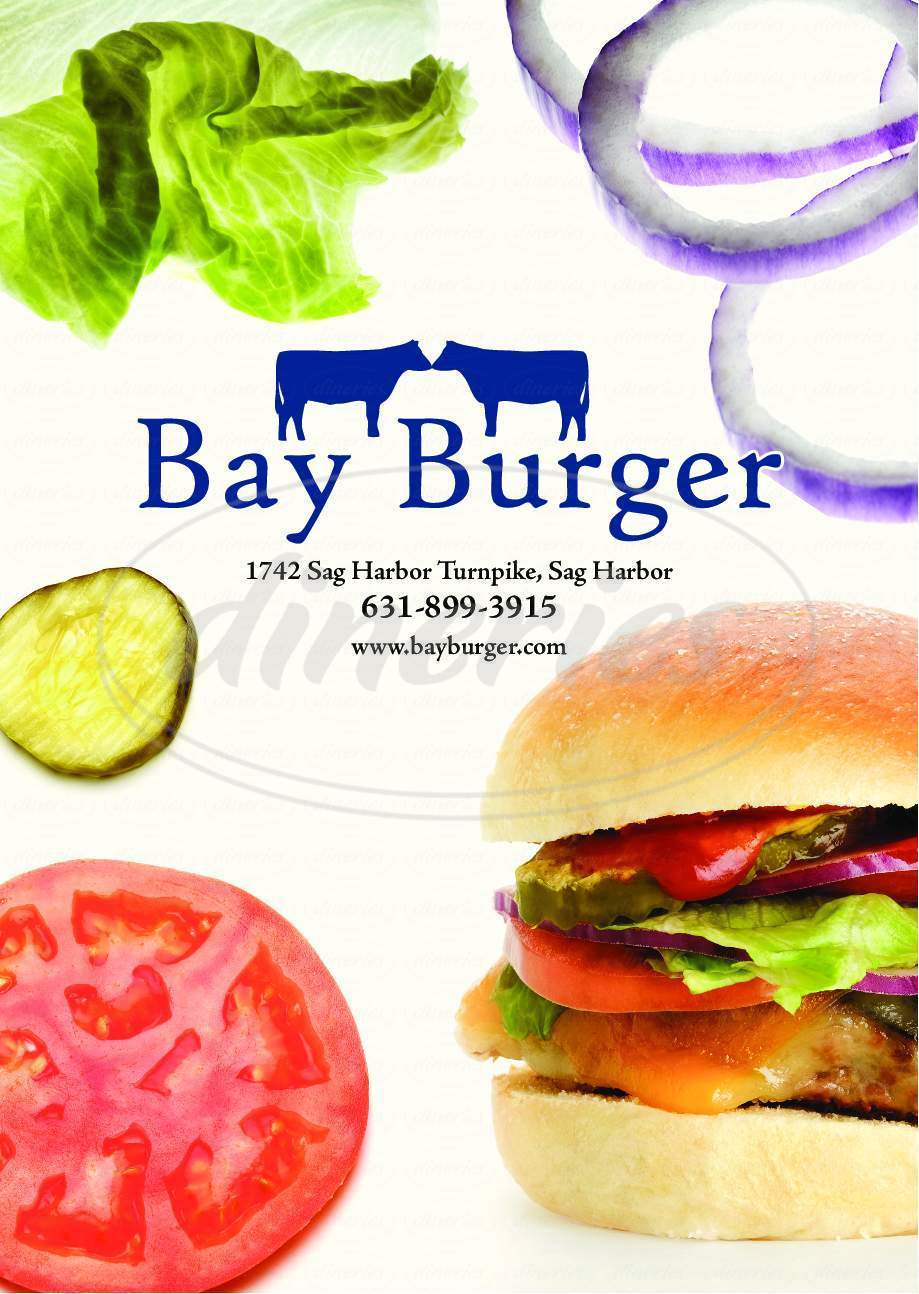menu for Bay Burger