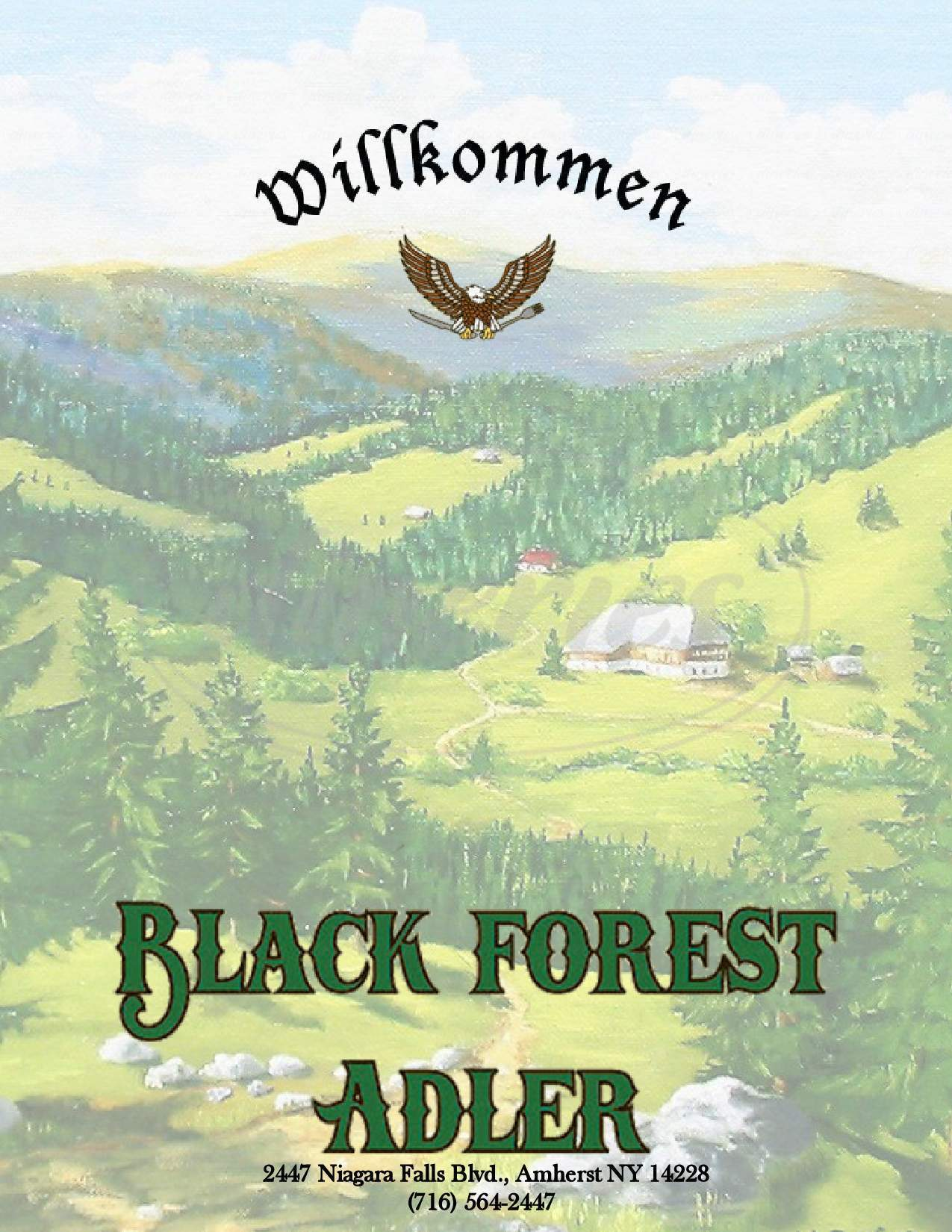 menu for Black Forest Adler