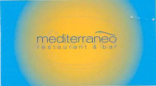 menu for Mediterraneo