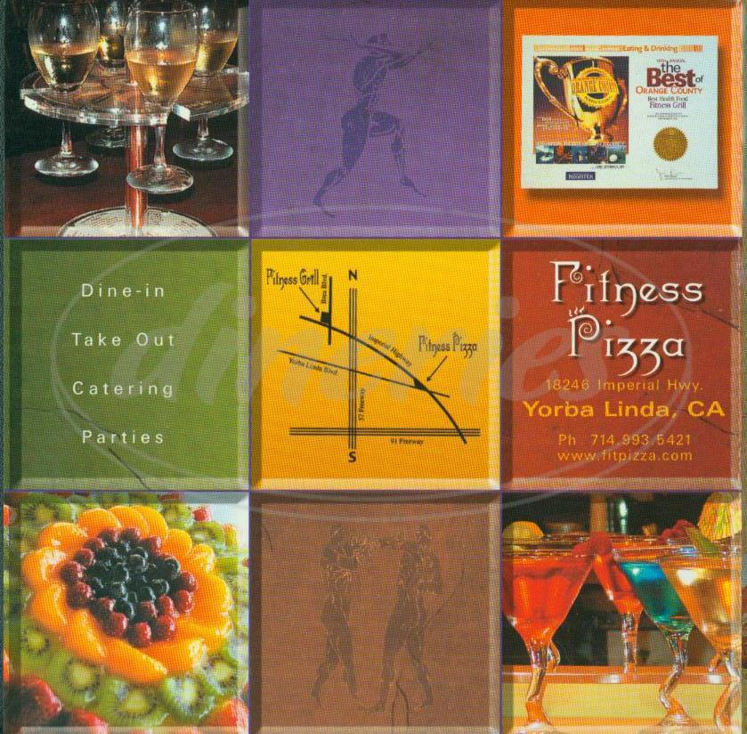 menu for Fitness Pizza