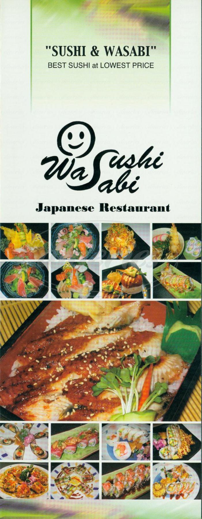 menu for Wasabi Sushi