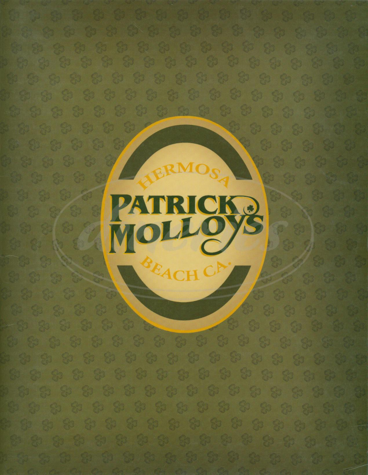 menu for Patrick Molloys