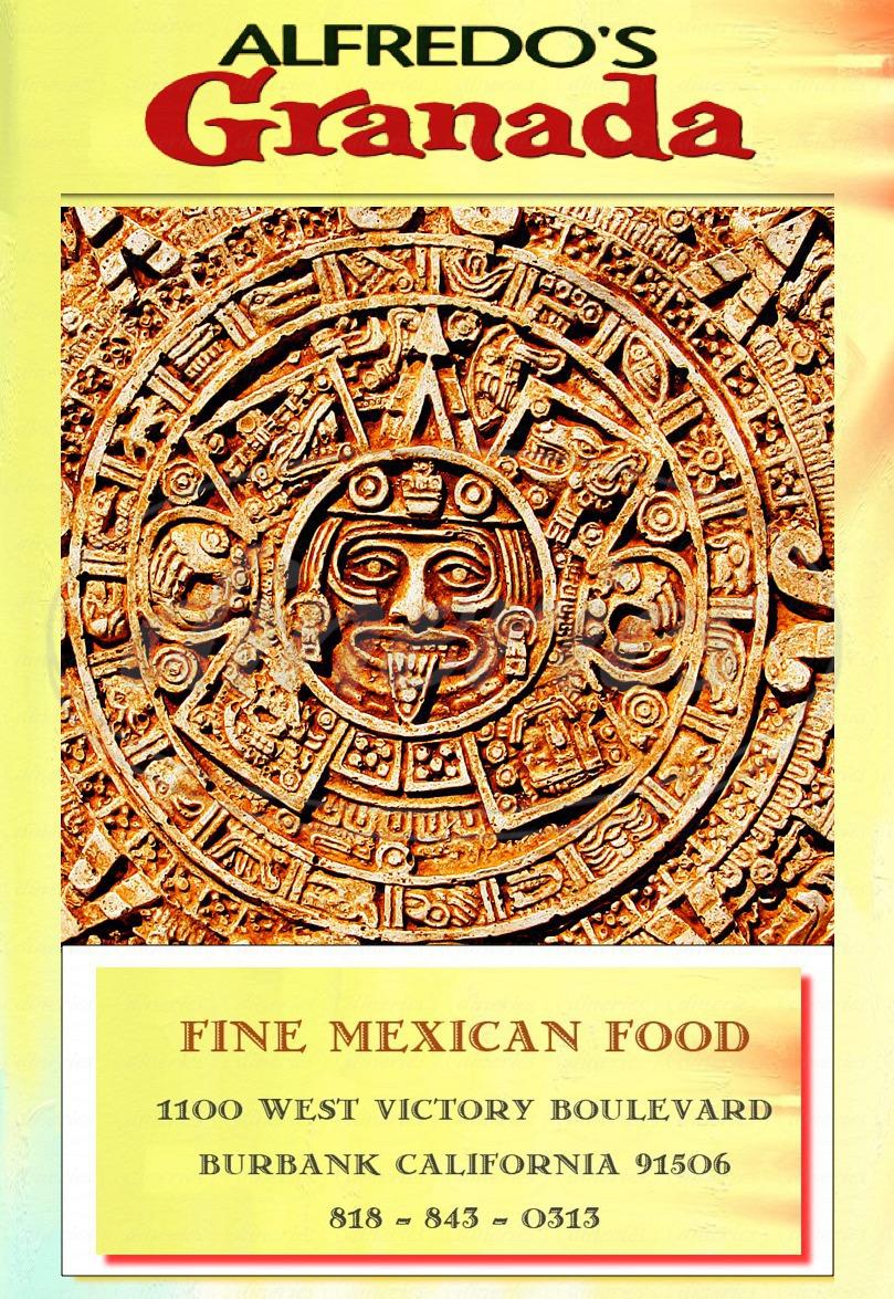menu for Alfredo's Granada