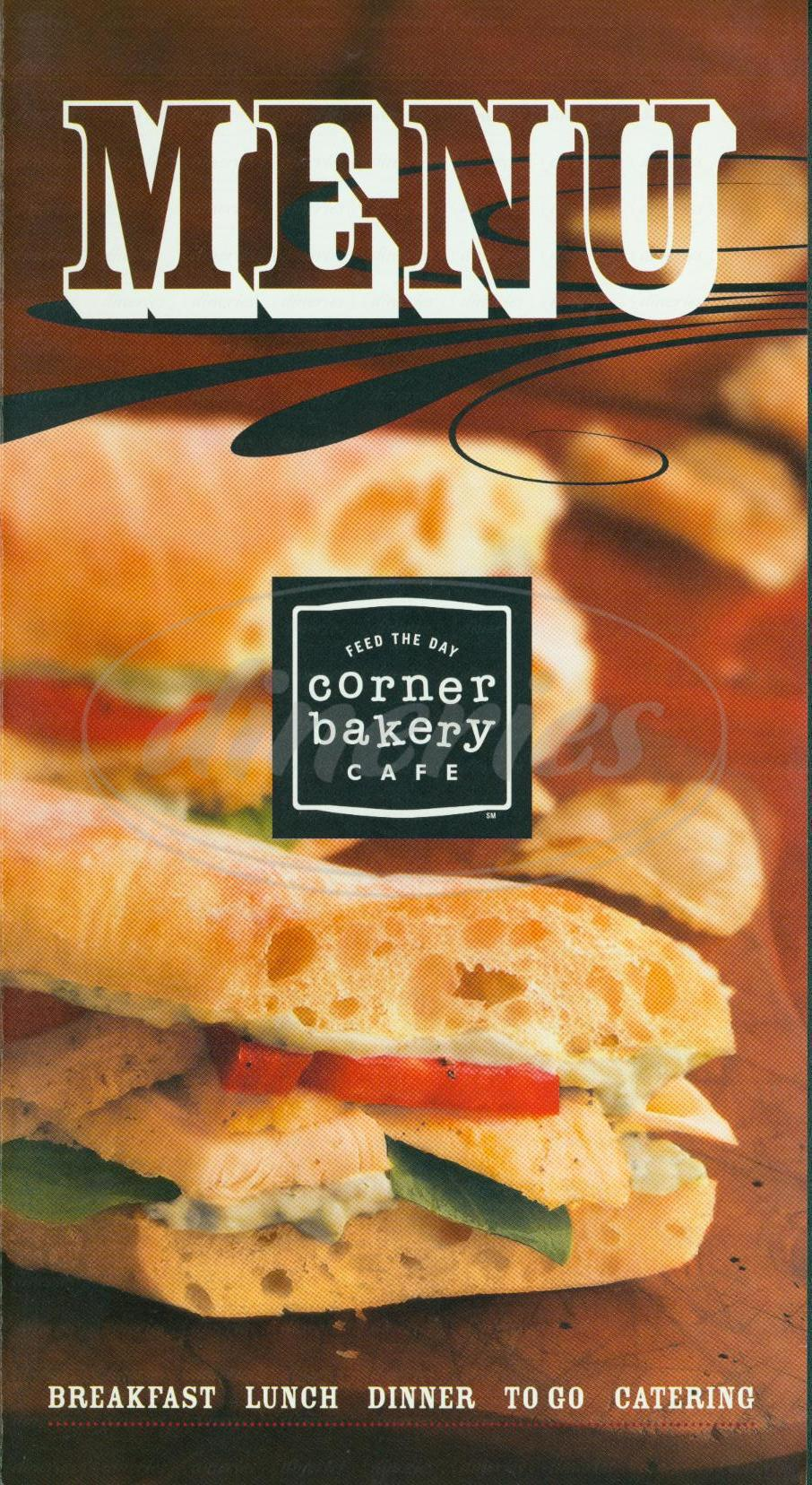menu for Corner Bakery Café
