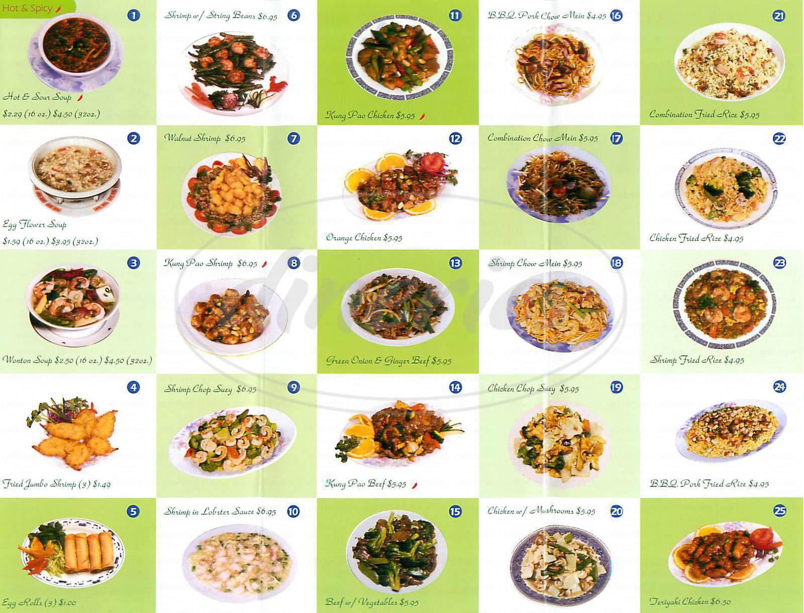 asian menu items