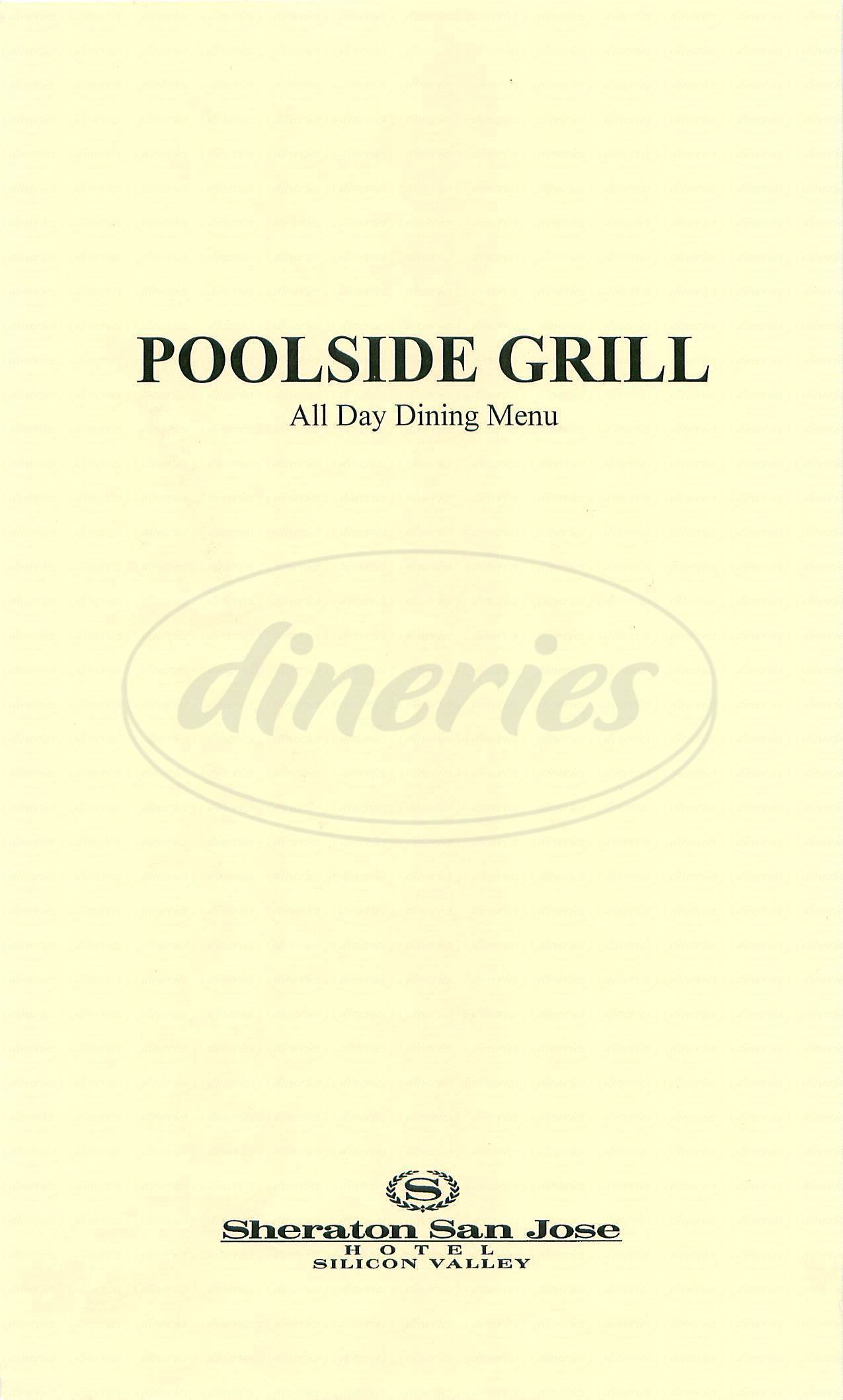 menu for Poolside Grill