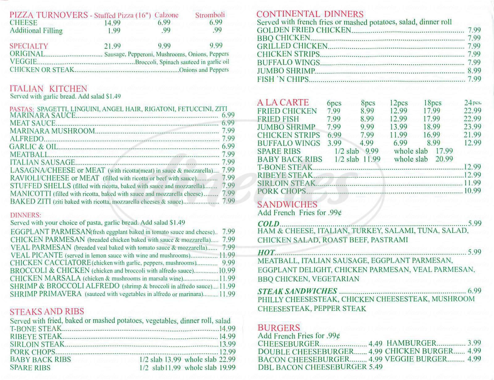 hi pizza italian kitchen menu los angeles dineries