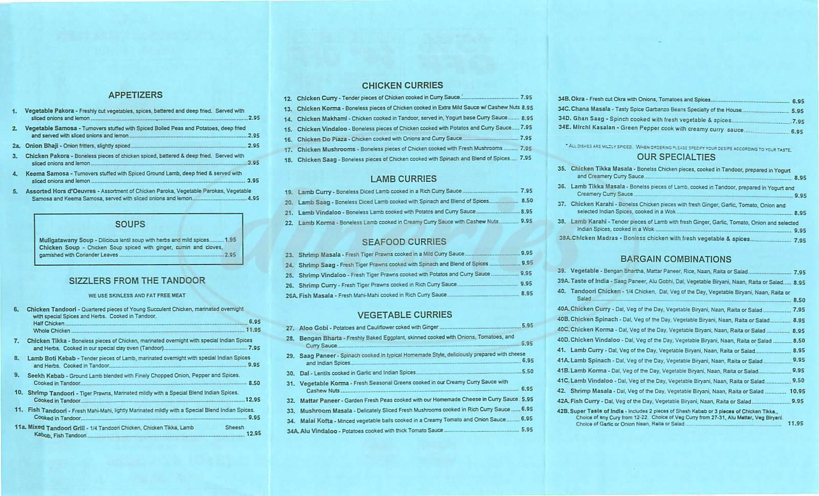 menu for LA Express Chicken
