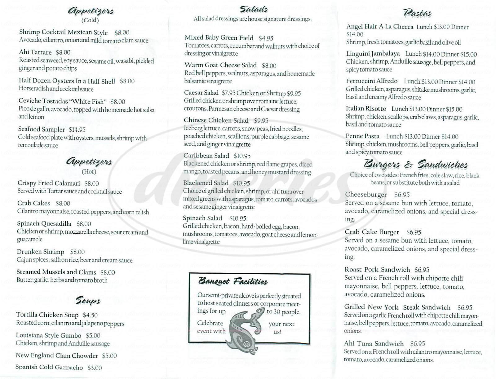menu for Tidal Wave Seafood & Oyster Bar