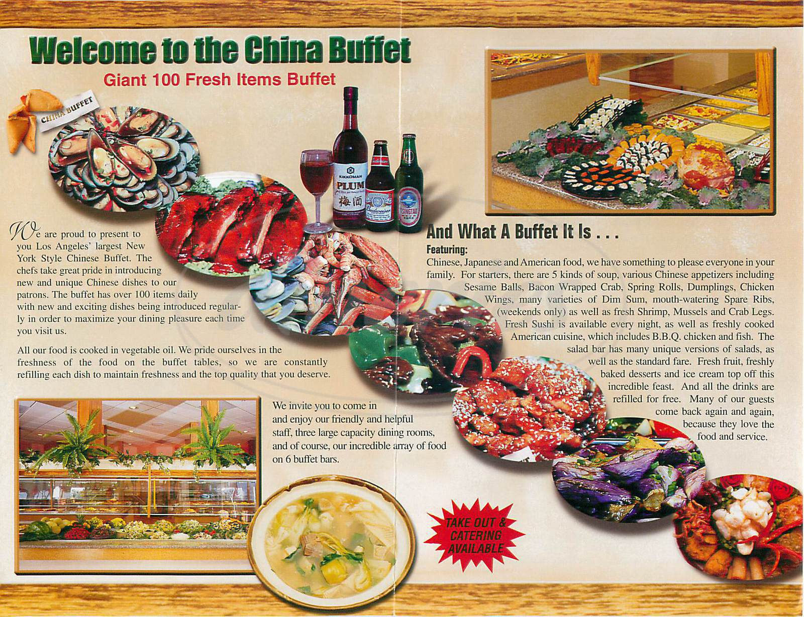menu for China Buffett