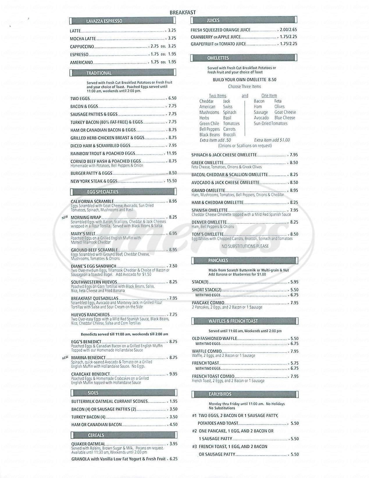 Nichols Restaurant Menu - Marina del Rey - Dineries