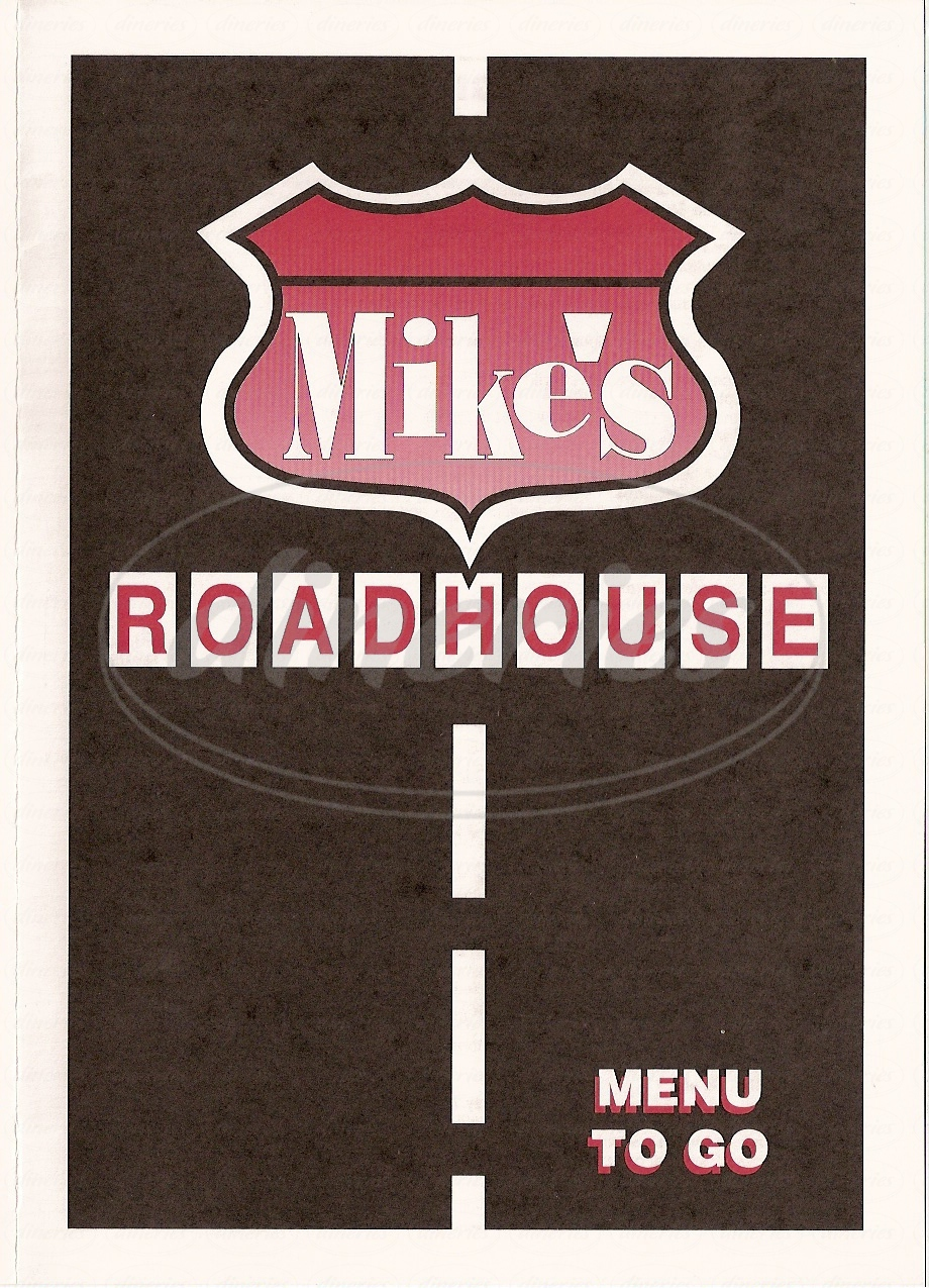 menu for Mikes Roadhouse