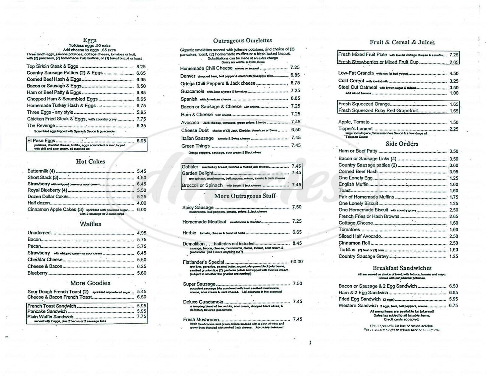 menu for Koffee Kart
