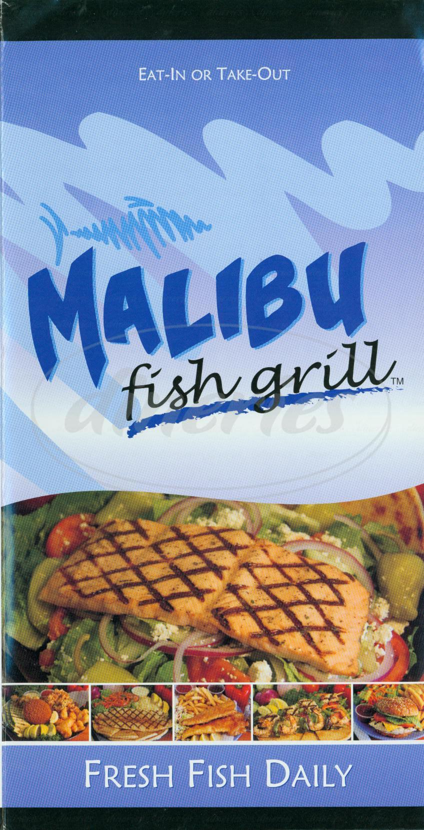 menu for Malibu Fish Grill