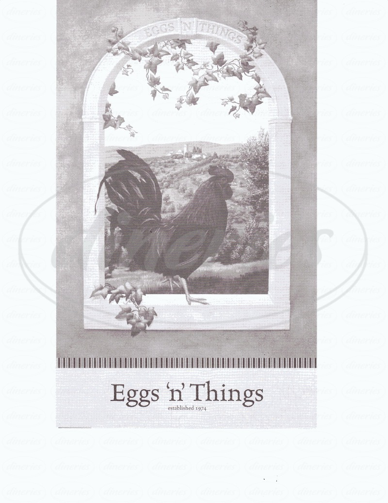menu for Eggs N Things